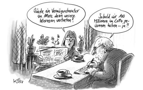 Karikatur ZEICHNUNG: STUTTMANN