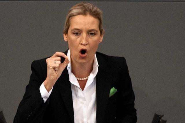 Jetzt räumt auch Alice Weidel Fehler im Umgang mit Parteispenden ein