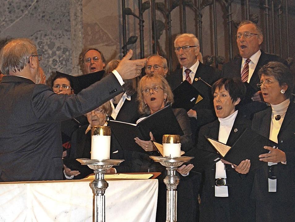 Der Liederkranz St. Blasien beim Benefizkonzert 2014.  | Foto: C. Liebwein