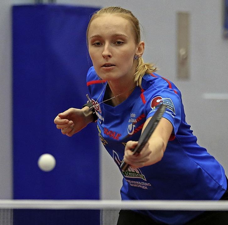 <BZ-FotoAnlauf>Tischtennis:</BZ-FotoAn...pf steht sie mit dem ESV unter Druck.   | Foto: Niklas Schöchlin