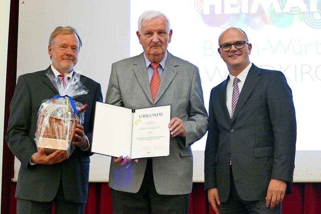 Landespreis für Heimatforschung: einen...s Ministerialdirektor Ulrich Steinbach  | Foto: Sylvia Sredniawa