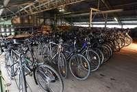 Abtransportierte Räder lagern am Mundenhof