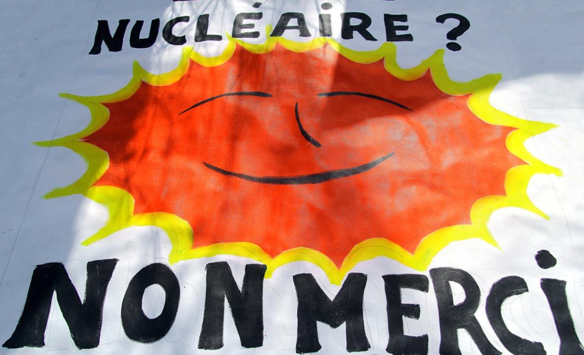 Klare Botschaft bei einer Demonstratio...ssenheim 2017: Atomkraft, nein Danke!   | Foto: Patrick Lohmüller