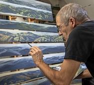 """Ausstellung """"Horizont"""" mit schmalen Landschaftsbildern von Michael Blum"""