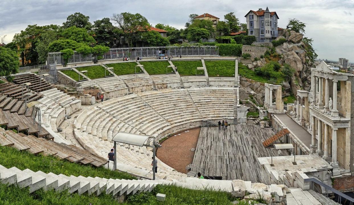 Antike Kulisse: Im römischen Theater v...n Opern- und  Konzertfestivals  statt.  | Foto: Plovdiv 2019 Foundation