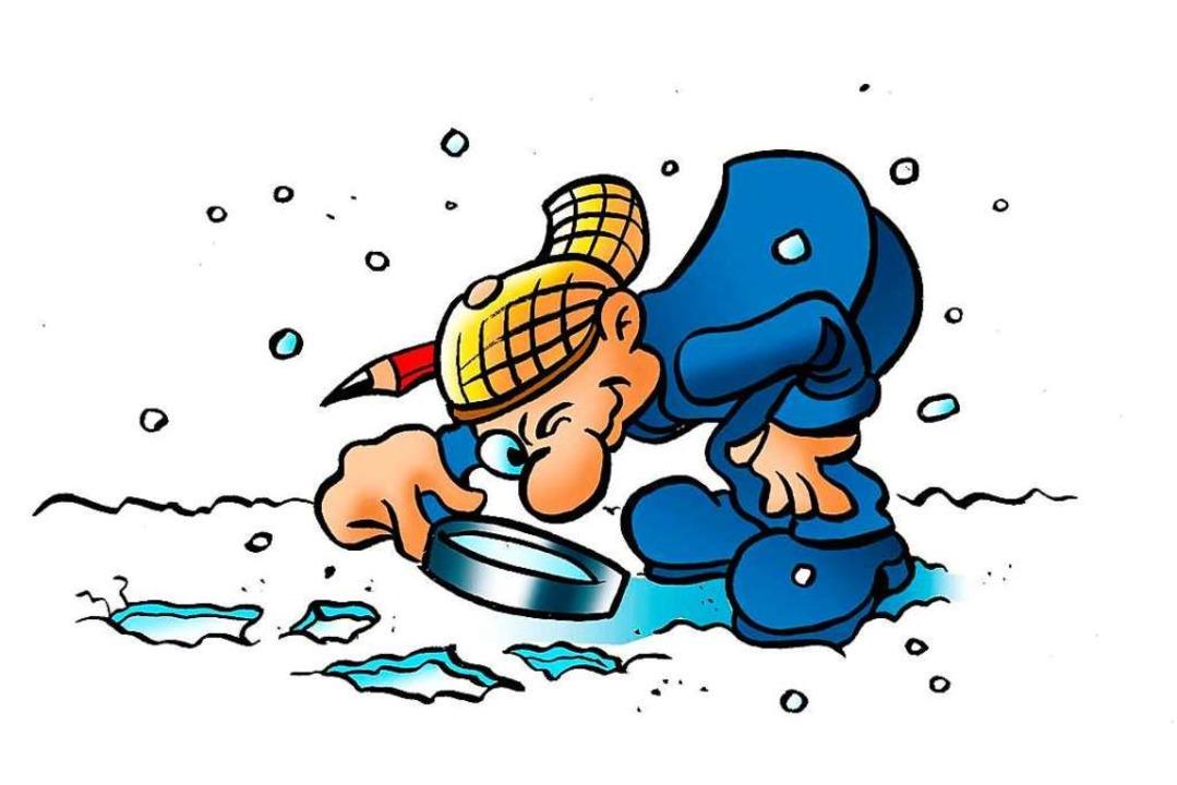 B. Zetti untersucht Spuren im Schnee. –  Schneemannspuren?  | Foto: Ferdinando Terelle