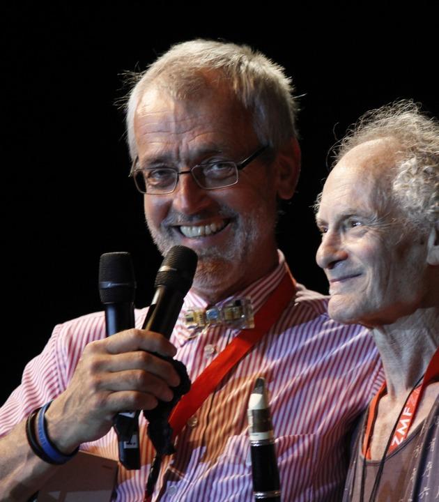 Perry Robinson (rechts) bei der ZMF-Gala 2013 mit Festivalgründer Alex Heisler    Foto: Wolfgang Grabherr