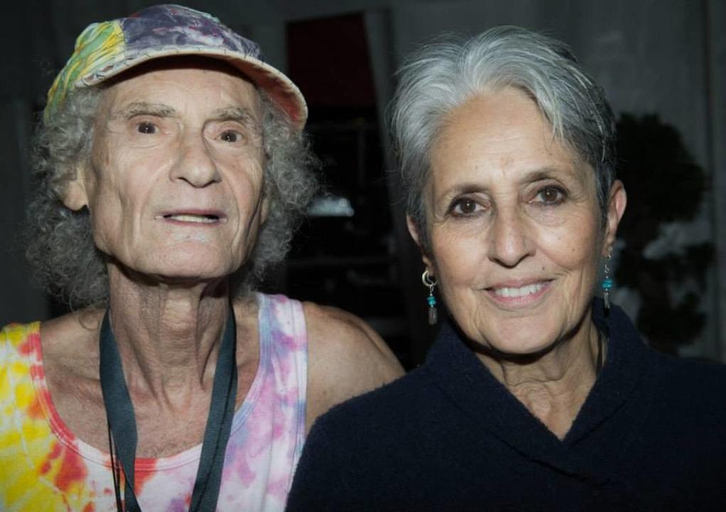 Wiedersehen: Perry Robinson und Joan Baez 2015 beim ZMF    Foto: Klaus Polkowski