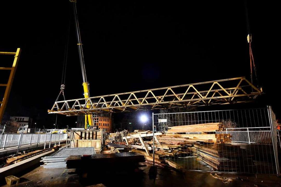 Die Behelfsbrücke wurde im vergangenen Dezember demontiert.    Foto: Rita Eggstein