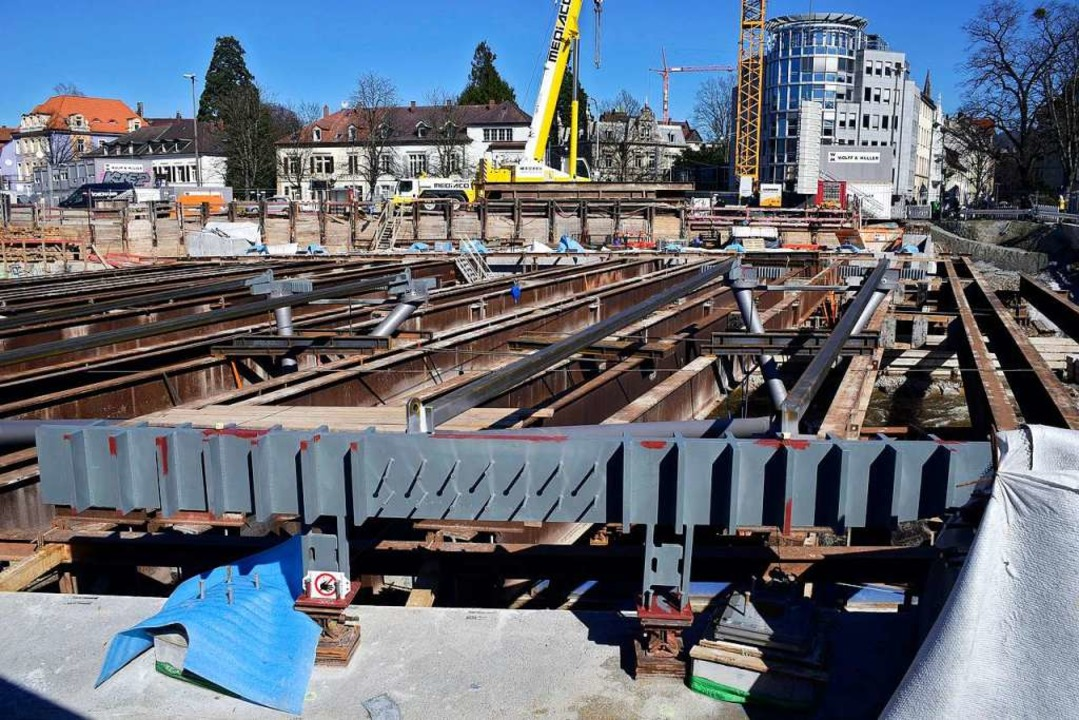 Der Brückenunterbau im März 2017.    Foto: Thomas Kunz
