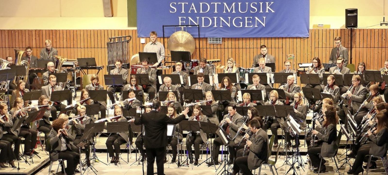 März 2018: die Stadtmusik Endingen (Ausschnitt) mit   Martin Baumgartner  | Foto: Martin Wendel