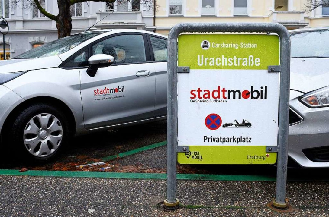 Stellplätze von Stadtmobil an der Urachstraße  | Foto: Thomas Kunz