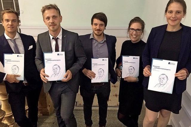 WIR ÜBER UNS: Jungjournalisten wurden ausgezeichnet