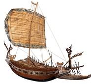Ein Segelboot setzt über
