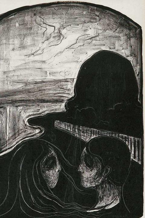 "Edvard Munch: ""Anziehung I"" (1896), Ausschnitt  | Foto: Lukas Spörl/Museum Kunst der Westküste"