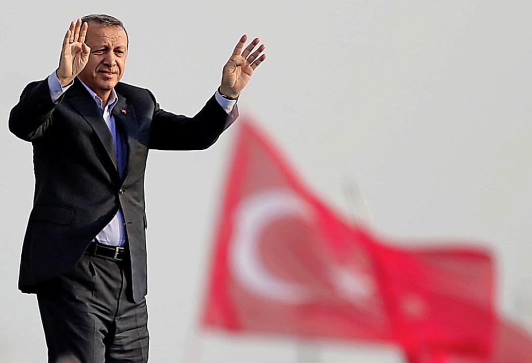 Der türkische Staatspräsident Erdogan  | Foto: dpa