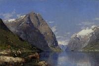 Mit Malmappe an den Fjord