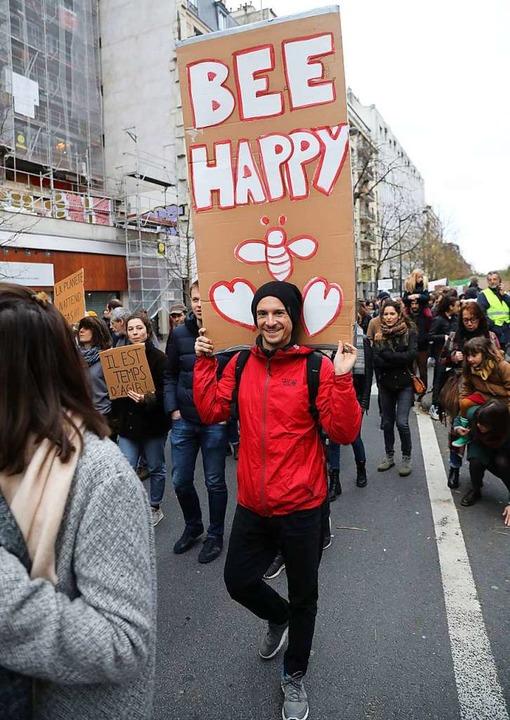 Friedliche Demonstranten in Paris  | Foto: AFP