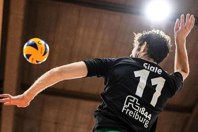 Volleyball-Heimspiel der FT 1844 Freiburg gegen den SSC Karlsruhe