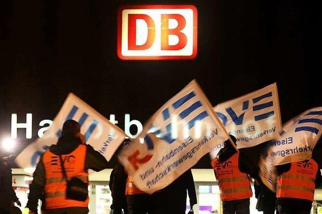 Bundesweite Bahn-Warnstreiks zum Wochenstart am Montagmorgen