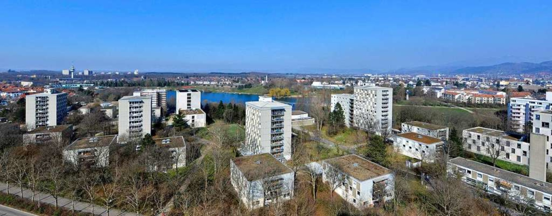 Die Studierendensiedlung am Seepark in Freiburg.  | Foto: Michael Bamberger
