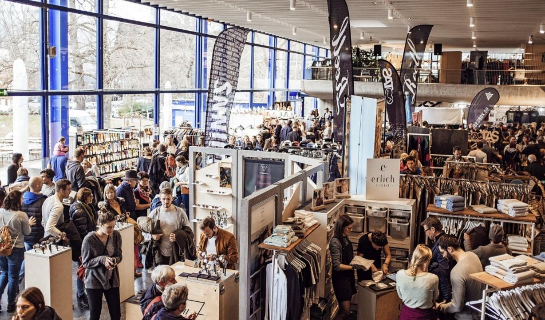 Markttreiben abseits des Mainstreams in der Mensa Rempartstraße    Foto: Fabio Smitka