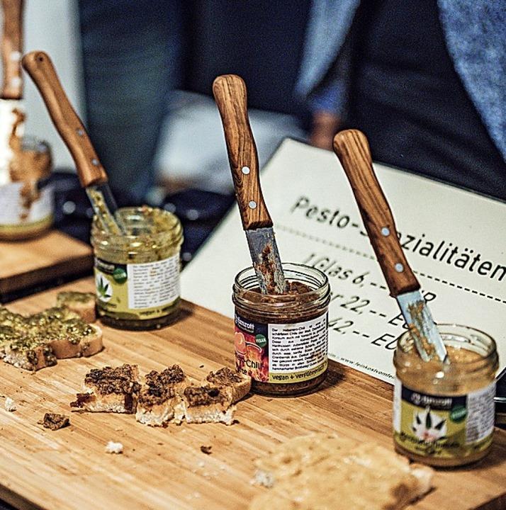 Pesto zum Probieren    Foto: Fabio Smitka