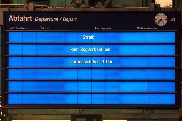 Bahnstreik im Liveticker: Auch nach Streikende um 9 Uhr weiter massive Einschränkungen im Bahnverkehr