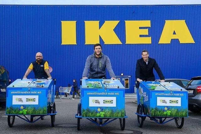 Ikea und die VAG erweitern Freiburgs Lastenräder-Fuhrpark