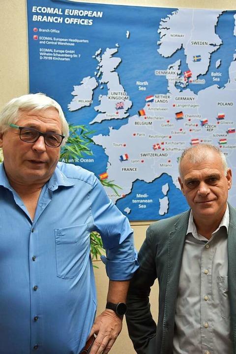 Ecomal-Chef Martin Behlke (links) und Logistik-Manager Peter Kraus   | Foto: Bernd Kramer