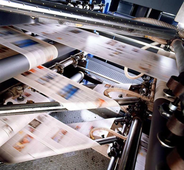 Die Rotation, auf der normalerweise di...hmsweise auch die DNA gedruckt wurde.   | Foto: achim Müller