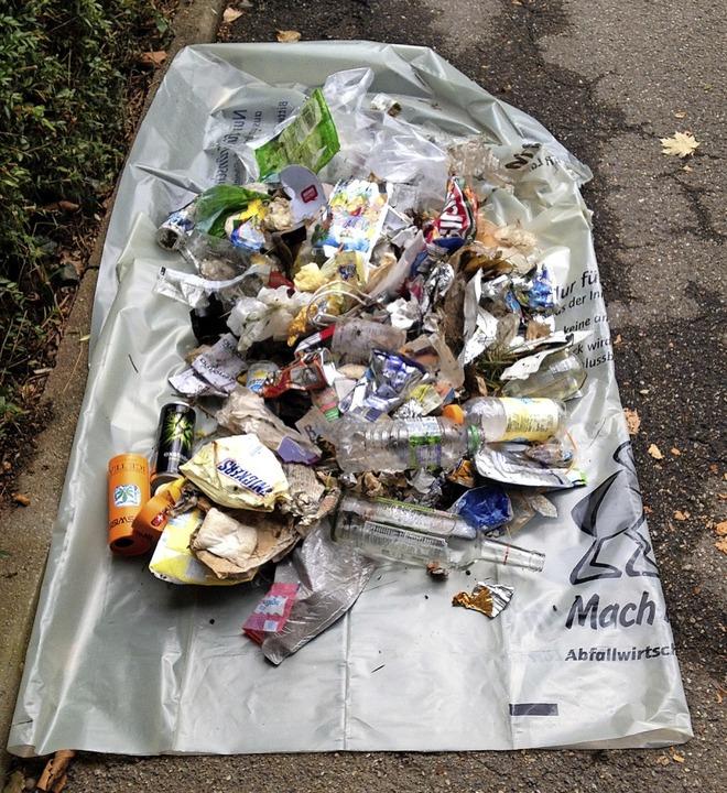 Der Müll von einer von Ohmes Runden     Foto: Leony Stabla