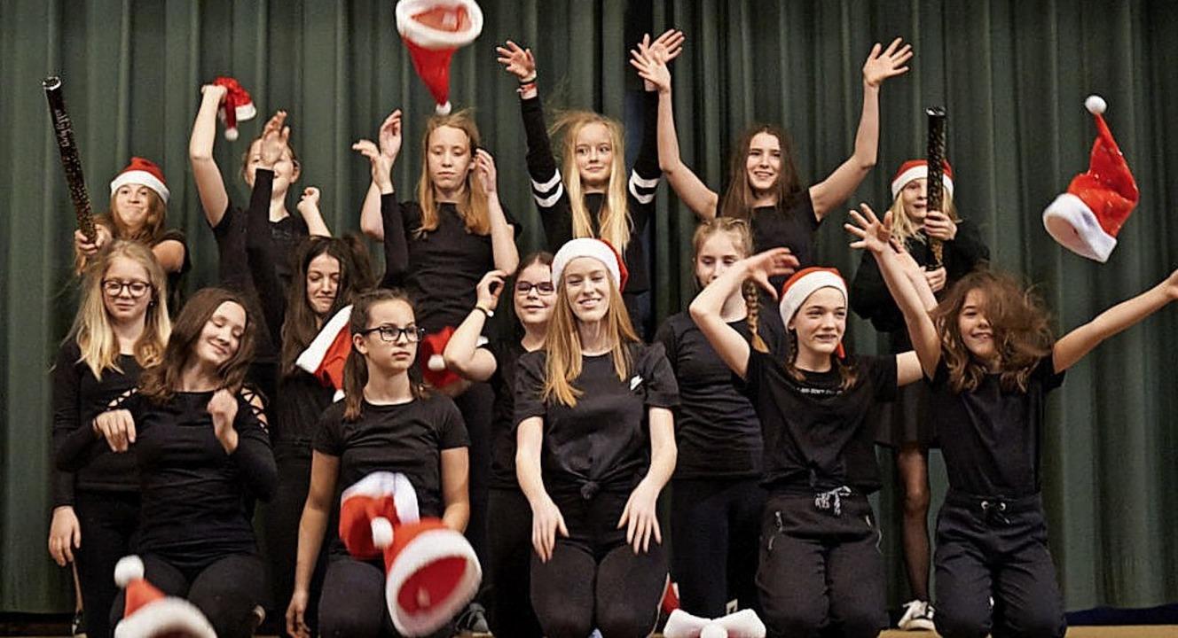 Die Nachwuchsturnerinnen des TV Hofweier bei der Nikolausfeier   | Foto: Verein