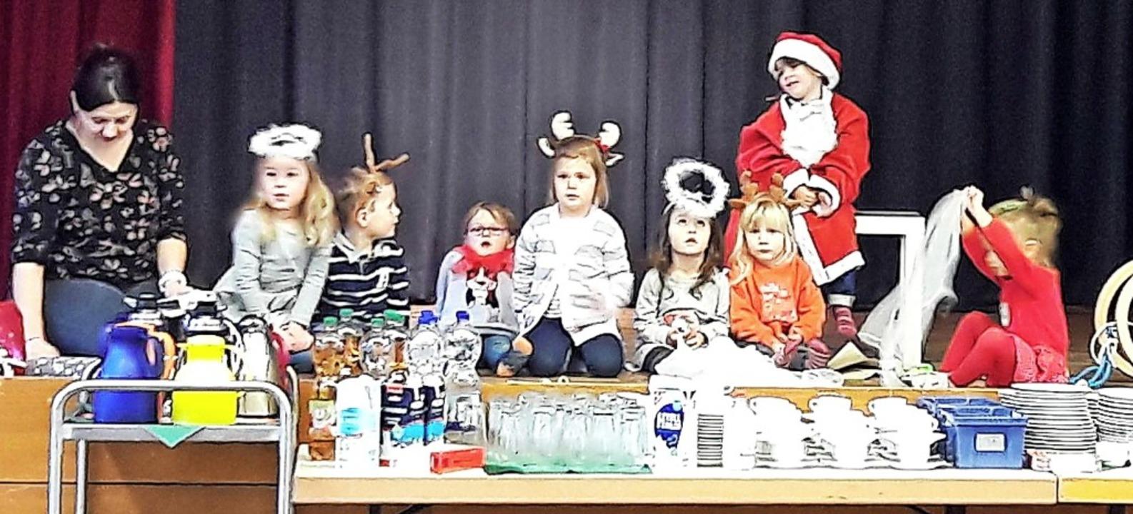 Szenenfoto aus dem Musical des Weihnachtsmusikgartens.     Foto: Jugendmusikschule