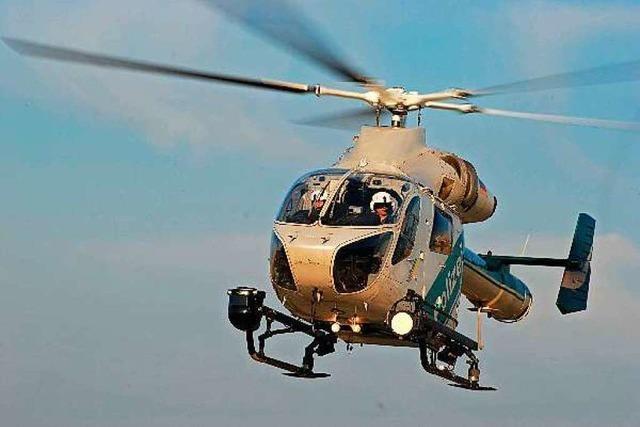 Polizei bittet, wegen ihres Hubschraubers nicht die 110 zu rufen