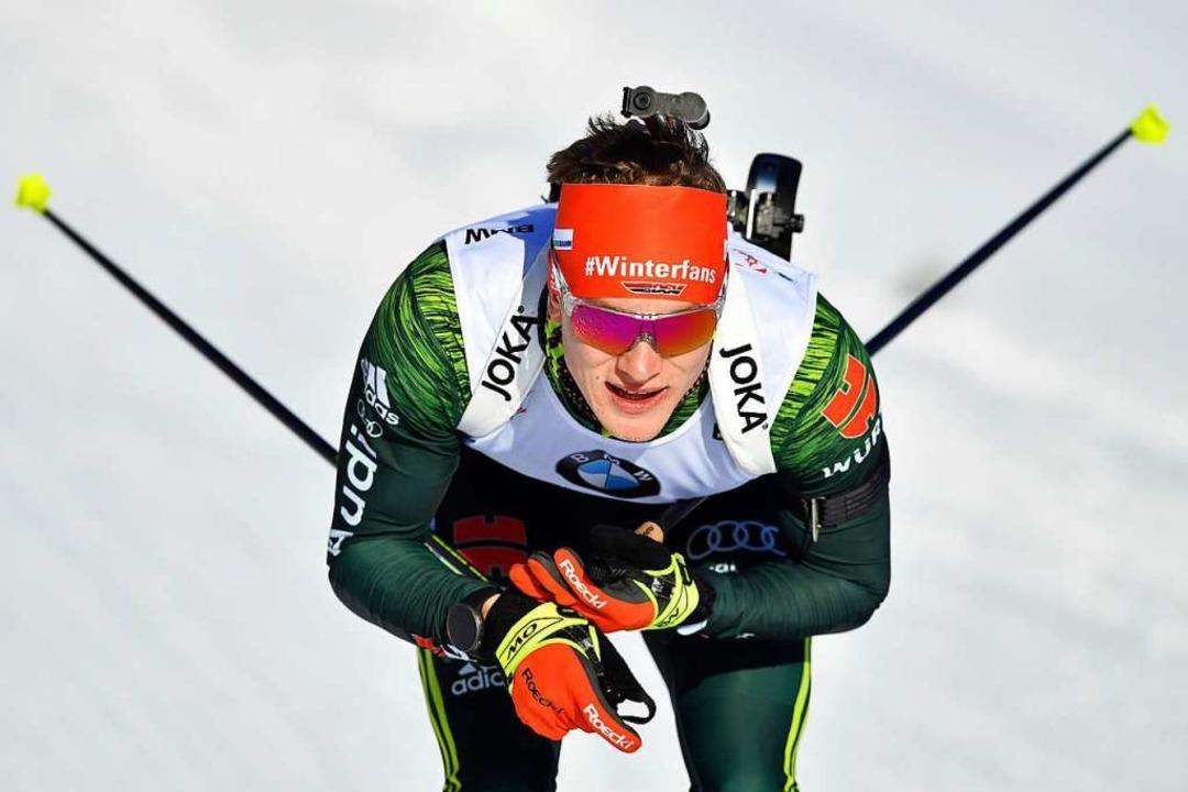 Der Kirchzartener Benedikt Doll entwic...äger im Team der deutschen Biathleten.    Foto: dpa