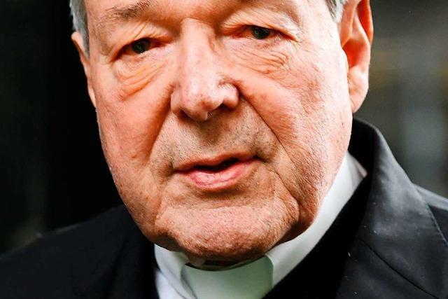 Kurienkardinal George Pell wegen Missbrauchs verurteilt