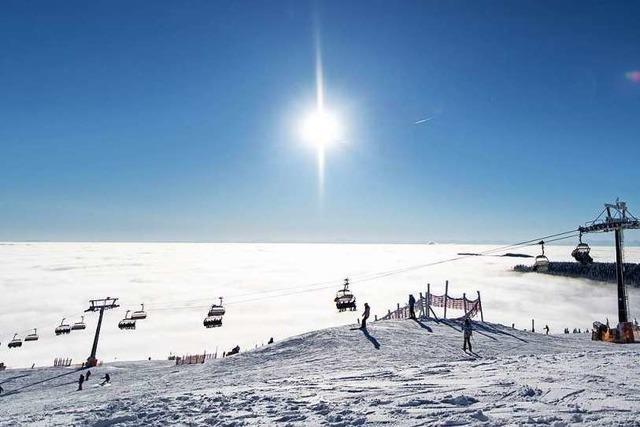 Auf dem Feldberg sind die ersten acht Skilifte in Betrieb
