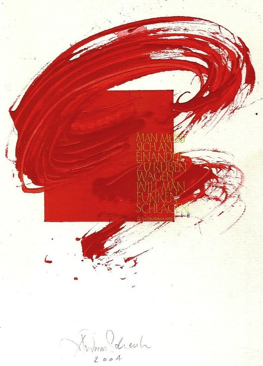 Energie 2004 @ schenk Kalligraphie Basel  | Foto: privat