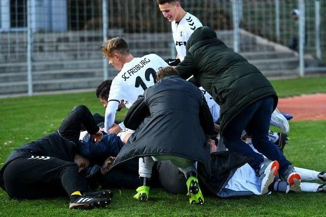 Sieg über Wolfsburg: SC-Junioren ziehen erneut ins Halbfinale ein