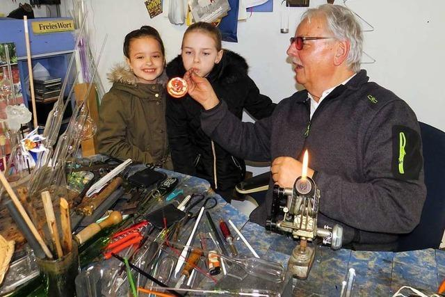 Zu Besuch beim Glasbläser Wilfried Markus in Rheinfelden