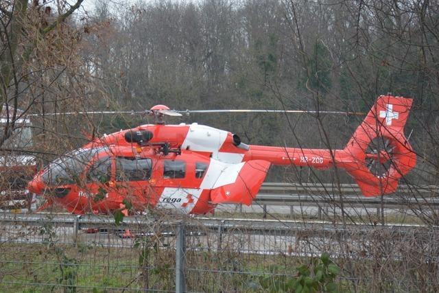 Unfall auf der A5 - Fahrtrichtung Basel teilweise gesperrt