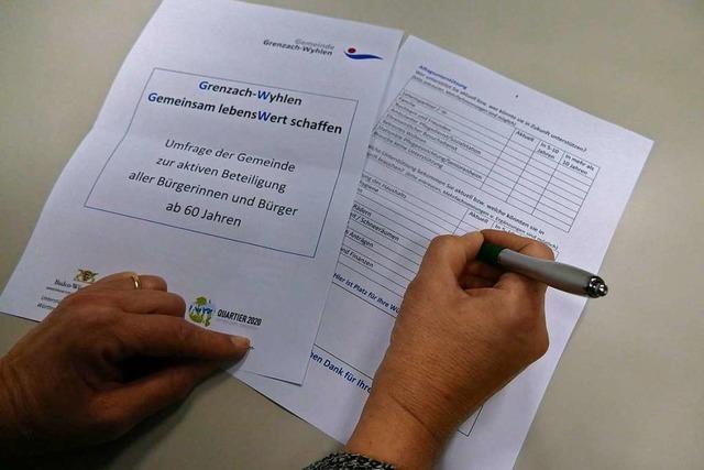Verwaltung in Grenzach-Wyhlen schickt Umfrage an Senioren
