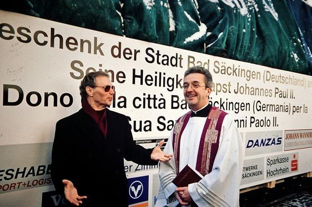 Als Bad Säckingen den Papst beschenkte
