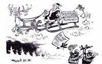 Überall Jubel um Santa Claus