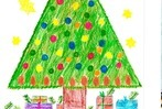 Fotos: Kinder gestalten Weihnachtskarten
