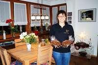 Susanne Krauß hat ihr Wohnzimmer in ein Café verwandelt