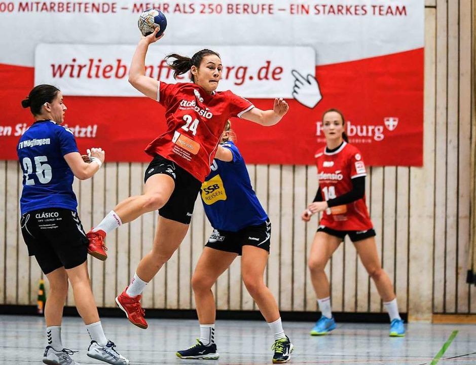 Elf Tore gegen Möglingen: Leonie Hartl von der HSG   | Foto: Patrick Seeger