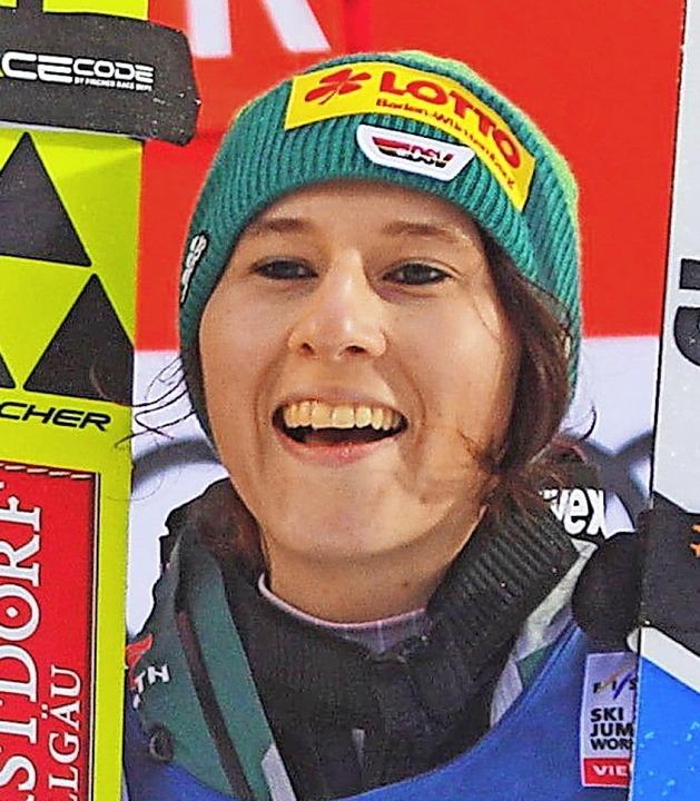 Erstmals auf dem Weltcup-Podest: Ramon...sprang in Lillehammer auf Rang zwei.    | Foto: apf