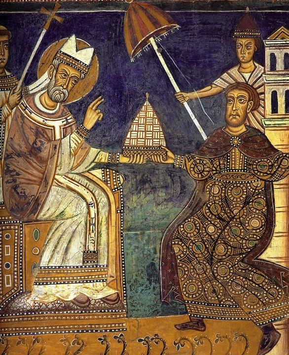 Ihre Übereinkunft gilt als widerlegt: ...nstantin auf einem romanischen Fresko.  | Foto:  Pr